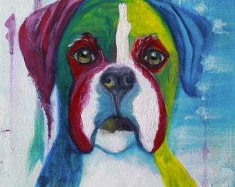Prints of Abstract Boxer