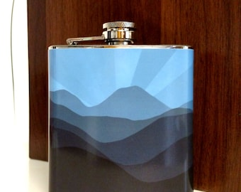 Blue Sunset Travel Flask