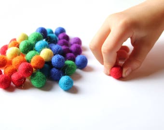 Small Wool Balls for Number Boards