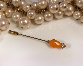 Orange long scarf pin hijab pin