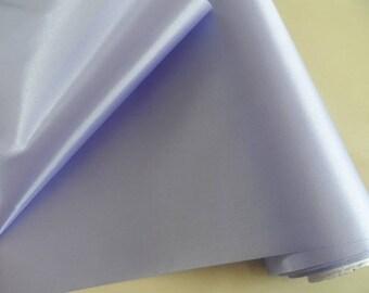 2 meters of 28.5 cm wide Lavender satin fabric