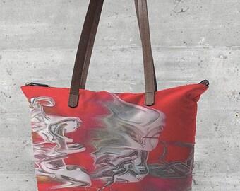 Fiery Swirl Statement Bag