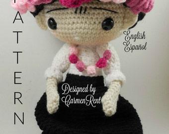 Frida(Carmen) - Amigurumi Doll Crochet Pattern PDF