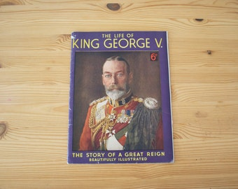 King George V - Vintage Magazine - 1936 - British Royal Family