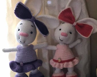 Crochet bunny rabbit with dress