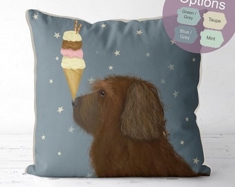 Labradoodle pillow cover Brown Labradoodle gifts Labradoodle cushion dog pillow dog gift decorative pillow dog lover gift dog owner gift