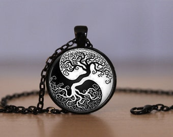 Wiccan Pendant Necklace Witchcraft Pagan Tree Of Life Mens Womens