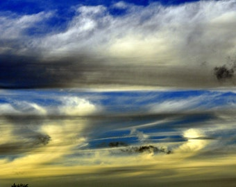 Cloud Art. Sunset. Photography. Nature Photography. Nature Photos. Abstract Photograph. Abstract Art. Sunset Photo. Gift for Nature Lover.