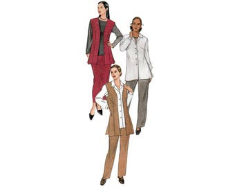 Women's Vest, Shirt, Pull-on Pants and Skirt Sewing Pattern, Plus Size 28W-30W-32W Bust 50-52-54 UNCUT McCall's 2320