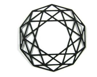 Large Geometric Polygon Paper Die Cuts Set of 8