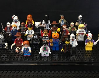 Horror Movie You Choose Minifigure Anabelle Jason Chuckie Freddy Myers Leatherface Jigsaw Pinhead Scream Carrie Ring Hannibal Candy Exorcist