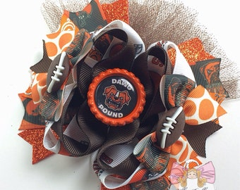 Cleveland Browns OTT Bow~2 choices for center:dawg pound or here we go brownies