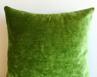 Green Chenille Pillow Cover 18x18 Pillow Chenille Green Pillow Designer Pillow Green Pillows Chenille Cushion Green Sofa Pillow Cover