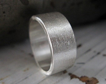 Brushed Sterling Silver Ring Mens Wedding Band Mens Wedding Ring Rustic Mens Wedding Ring Unique Mens Wedding Band Viking Wedding Ring Mens