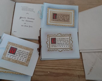 Antique boxed unused Christmas cards