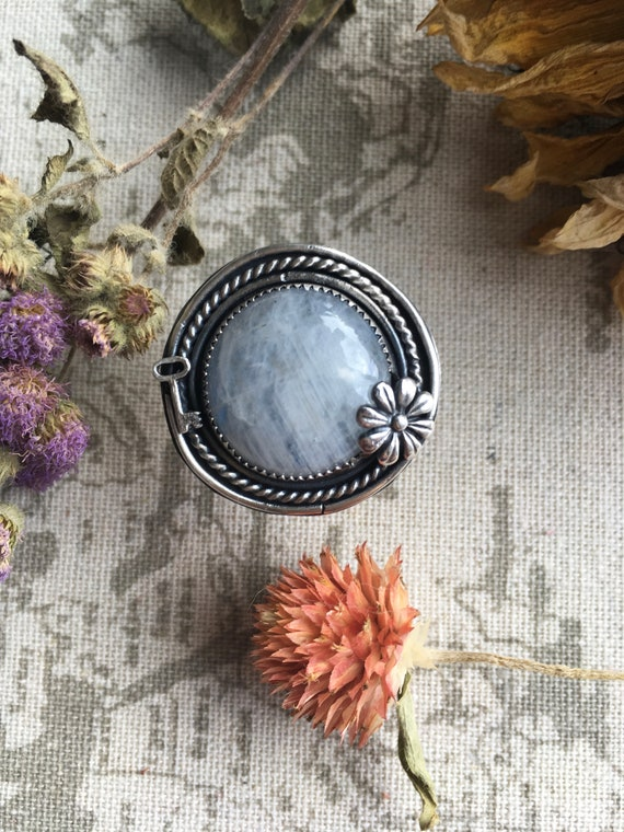 The Gatekeeper, Moonstone and Sterling Silver Statement Ring, size 7