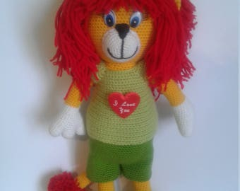 soft knitted toy Lion