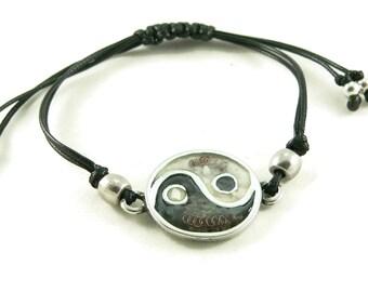 Orgone Energy Shamballa Style Bracelet - Yin-Yang Friendship Bracelet - Choose Your Stones/Colors - Natural Gemstones - Artisan Jewelry