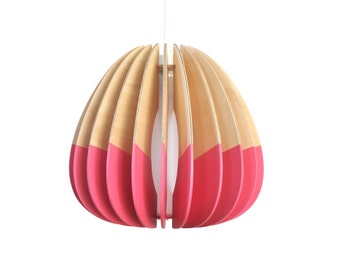 Eco Wooden Pendant light   Sustainable   Handmade custom Lighting   Colour   Original   'STD Quarterium Pendant'