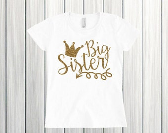 Big Sister Arrow Shirt Hipster Big Sister Baby and Toddler Big Sister Shirt Big Sister Princess Shirt Big Sister Glitter Shirt Girl Shirt