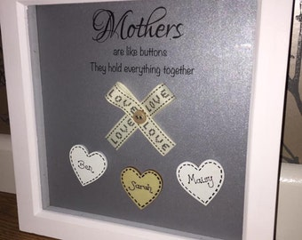 Personalised Mothers are like buttons frame