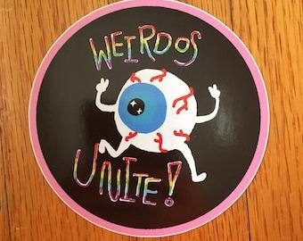 Weirdos Unite Sticker