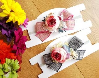 Flower baby headbands/ baby girl headbands/ nylon headbands/ bow headbands/ newborn headbands/ newborn photo props
