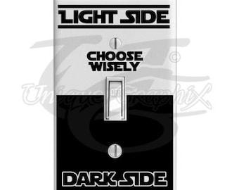 Star Wars Inspired Light Side Dark Side light switch decal