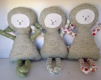Lamb Toy Soft Doll, Plush, Natural Eco Friendly