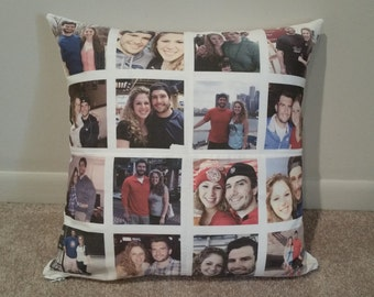 Custom photo collage pillow, picture collage pillow, custom throw pillow, photo pillow, photo pillow case, custom pillow case