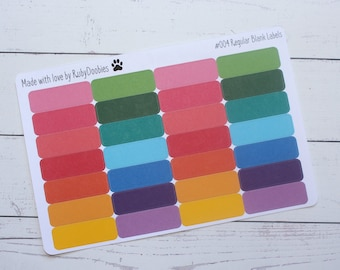 Regular Blank Label Stickers