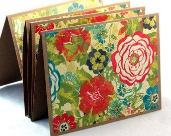 Shabby Chic Note Cards, Retro floral note cards