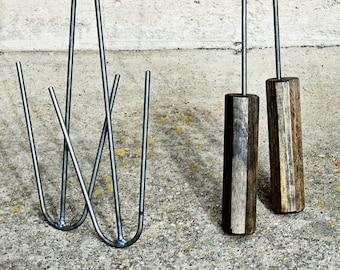 Hotdog/Marshmallow Roasting Sticks with wooden handle