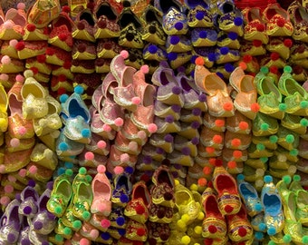 Colorful Oriental slippers Grand Bazaar Istanbul Oriental photography,