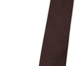 Vintage Necktie / Mens Tie / Damon Italian Silk Necktie / Brown Tie / Mens Neckties Ties / Vintage Tie / Guys Necktie / Gifts for Guys