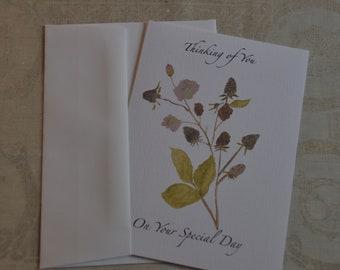 Bramble Greeting Card with matching envelope.