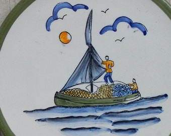 Cute Nautical Pottery Plate!