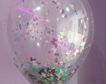 Confetti Balloons Butterfly Confetti Weddings Birthdays Christening Decorations Helium Quality x 3 pack