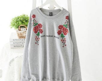 Printing Head Long Sleeved Sweater