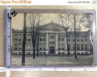 10%OFF3DAYSALE Vintage Post Card Girard Pa High School Post Marked 1915 Used