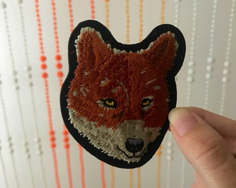 Vintage Fox Face Iron-On Patch