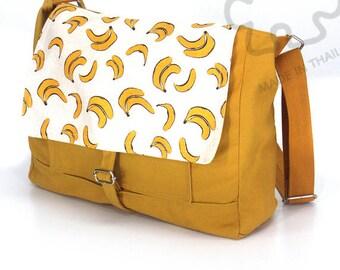 10% Off [Orig. 25.99] Banana bag Messenger bag Crossbody bag banana Sling purse Shoulder Bag Tote