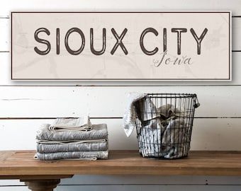 Sioux City Canvas, Sioux City, City Print, City Typography, Iowa, Visit Sioux City, Travel Typography, Visit Iowa, Travel Illustrations