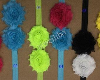 Shabby Flower Headbands, Baby Headband ,Headbands , Baby Girl Headbands