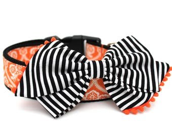 Dog Collar Bow Add-On Bow For Dog Collar Halloween Dog Bow Accessory