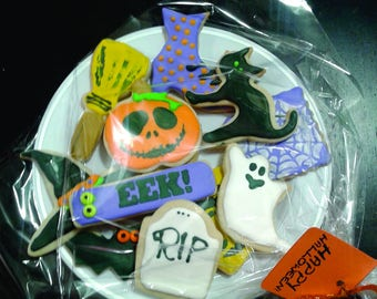 Holiday cookie plates.sugar cookies.decorated cookies.baked goods