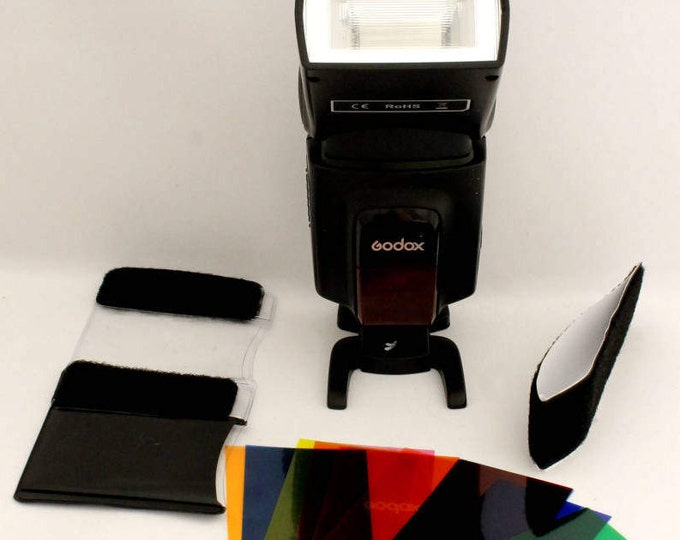 Camera Flash Diffuser Lighting Gel Popup Colour Cards Photography Accessories