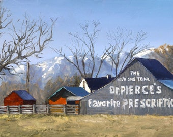 """Original Oil Painting """"Dr. Pierce's"""" by Cache Valley Artist Steve Wagner."""
