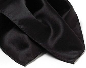 Black Silk Neck Scarf - Cravat