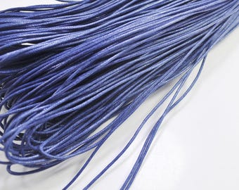 1.5mm Dark blue Waxed Cotton Cord, 25 metres/50 metres Dark blue Macrame Cord, Cotton Cording, Braided Cotton Cord, Jewelry Cord, GD223
